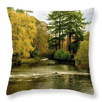 Fall Colour On The River Ness Islands Throw Pillow