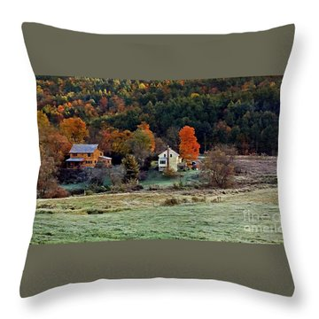 Throw Pillow featuring the photograph Fall Country Side - Vt2015 by Joe Finney