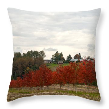 Fall Country Throw Pillow