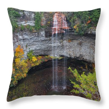 Fall Creek Falls 265 Feet Throw Pillow