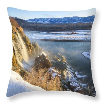Fall Creek Winter Throw Pillow