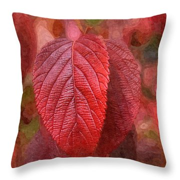 Fall Crimson Throw Pillow by Nick Kloepping