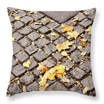 Fall Crossroads Throw Pillow by JAMART Photography
