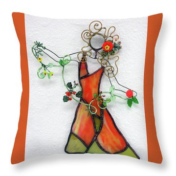 Fall Dancer Throw Pillow by Maxine Grossman