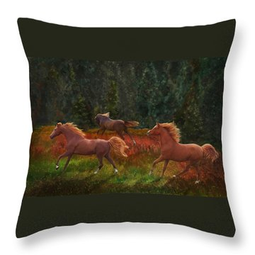 Fall Dancers Throw Pillow
