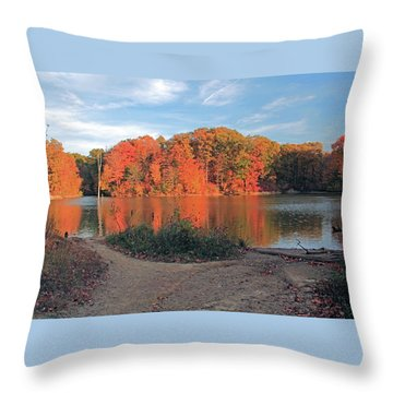 Fall Day At The Creek Throw Pillow