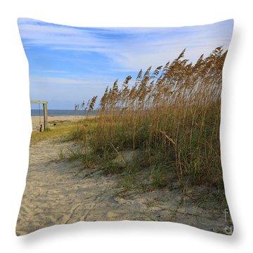 Fall Day On Tybee Island Throw Pillow