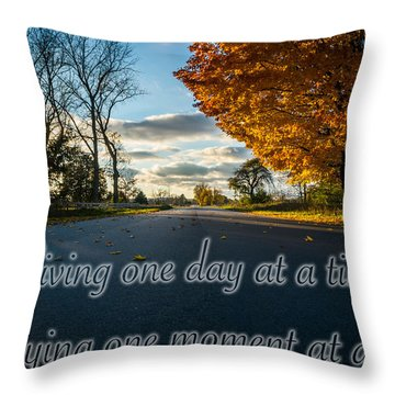 Fall Day With Saying Throw Pillow