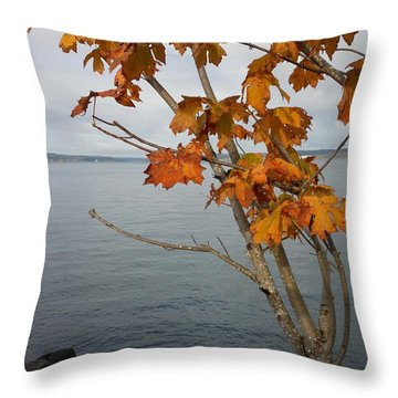 Fall Embrace Throw Pillow