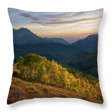 Fall Evening In American Fork Canyon Throw Pillow