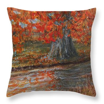Fall Exit Throw Pillow