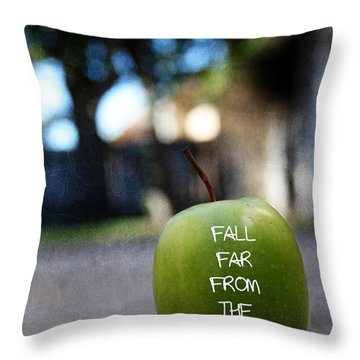 Fall Far From The Tree- Art By Linda Woods Throw Pillow
