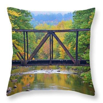 Fall Fascination Throw Pillow