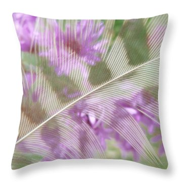 Fall Feather Throw Pillow by Tim Good