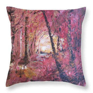 Fall Fire Throw Pillow