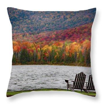 Fall Foliage At Noyes Pond Throw Pillow