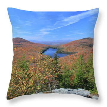Fall Foliage At Owl's Head Groton State Forest Throw Pillow by John Burk