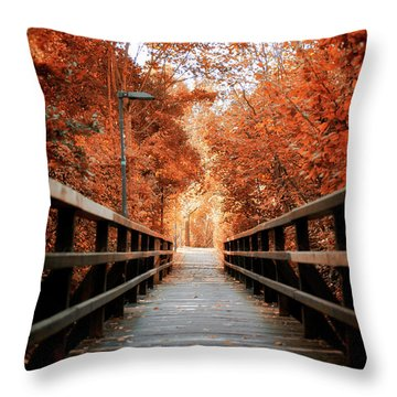 Throw Pillow featuring the photograph Fall Foliage In The Heart Of Berlin by Ivy Ho