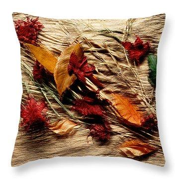 Fall Foliage Still Life Throw Pillow