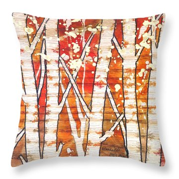 Fall Foliage Throw Pillow