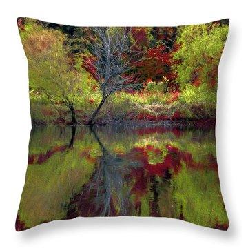 Fall Gone Wild Throw Pillow