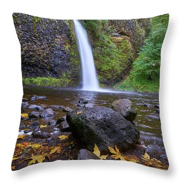 Throw Pillow featuring the photograph Fall Gorge by Jonathan Davison