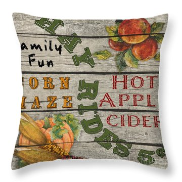 Apple Maze Throw Pillows