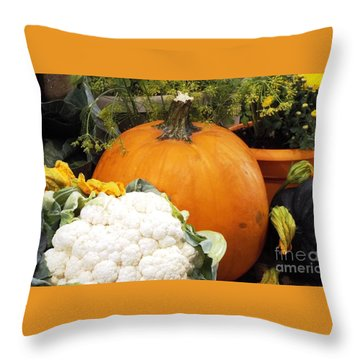 Fall Harvest Throw Pillow by Judyann Matthews