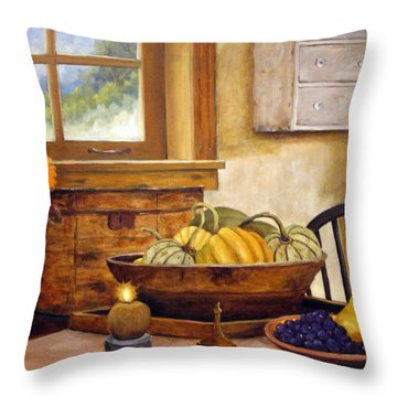 Fall Harvest Throw Pillow by Richard T Pranke