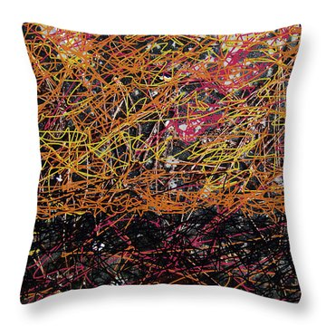 Throw Pillow featuring the digital art Fall Homage To Jackson by Walter Fahmy