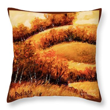 Throw Pillow featuring the painting Fall by Igor Postash