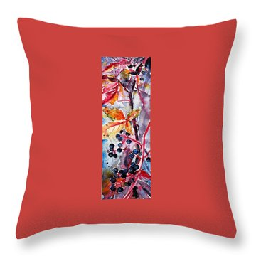 Throw Pillow featuring the painting Fall II by Kovacs Anna Brigitta
