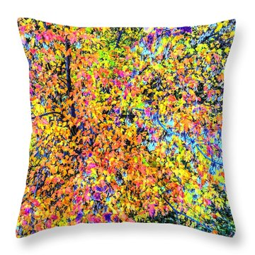 Fall Impressionism Throw Pillow