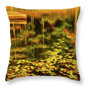 Fall Impressions Throw Pillow by Rebecca Hiatt