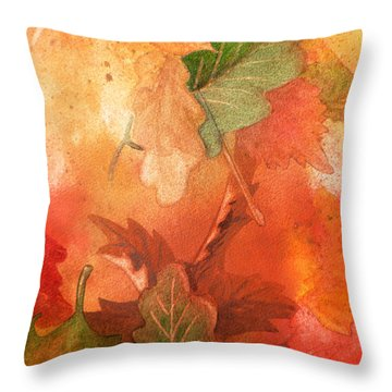 Fall Impressions V Throw Pillow by Irina Sztukowski