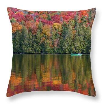 Fall In A Canoe Throw Pillow
