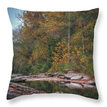 Fall In Arkansas Throw Pillow