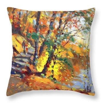 Fall In Bear Mountain Throw Pillow