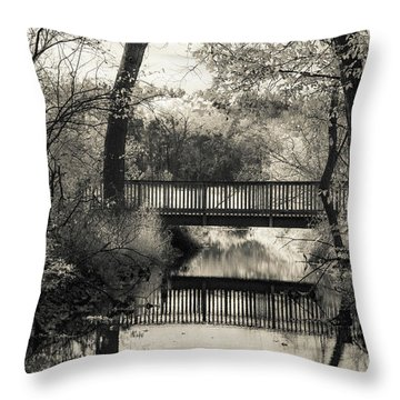 Fall In Black And White Throw Pillow