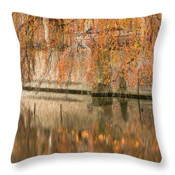 Fall In Bruges, Belgium Throw Pillow