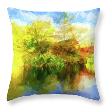 Throw Pillow featuring the photograph Fall In Central Park by Jim  Hatch