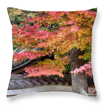 Fall In Japan Throw Pillow