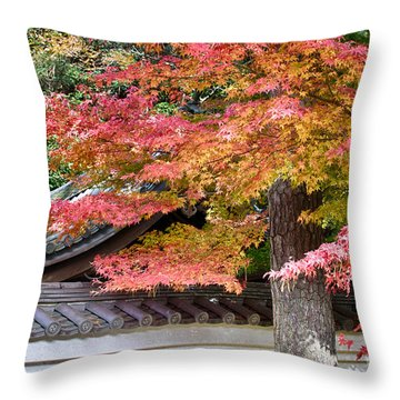 Fall In Japan Throw Pillow