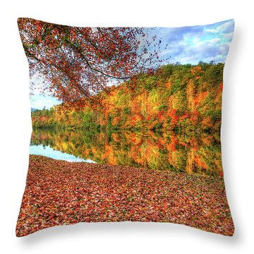 Fall In Murphy, North Carolina Throw Pillow