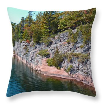 Fall In Muskoka Throw Pillow by Claire Bull