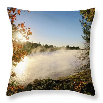 Fall In New England Throw Pillow