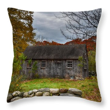 Fall In New England Throw Pillow by Tricia Marchlik