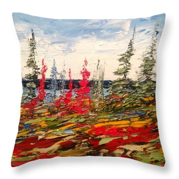Fall In Oil No.1 Throw Pillow