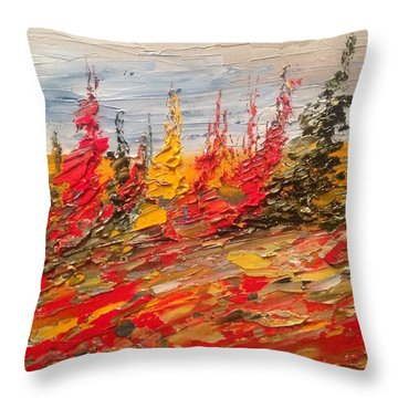 Fall In Oil No.3 Throw Pillow