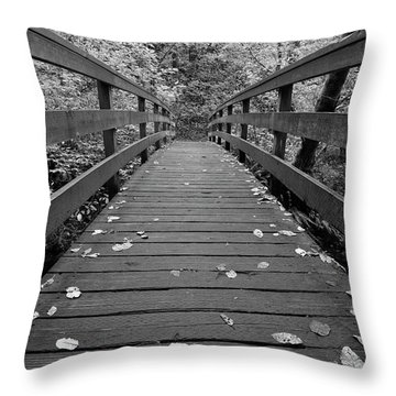 Throw Pillow featuring the photograph Fall In Oregon Bw by Jonathan Davison